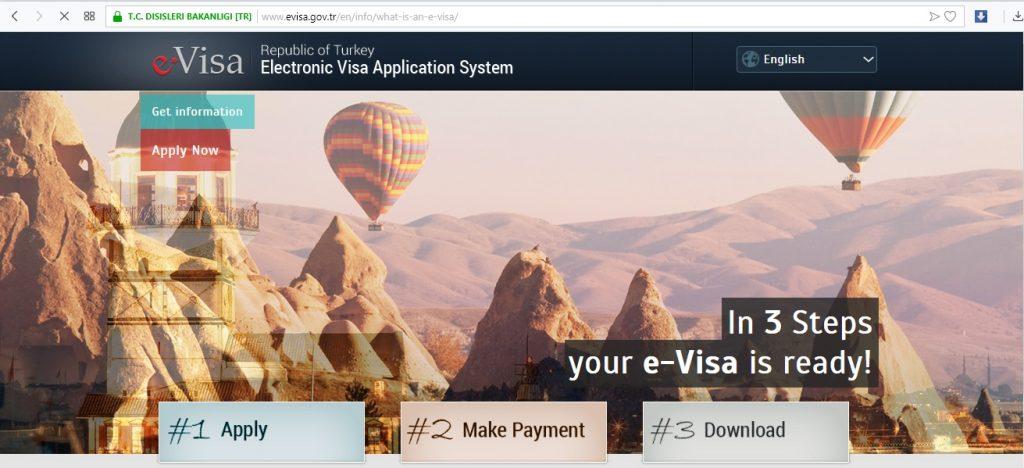 Website pengajuan visa turis ke Turki