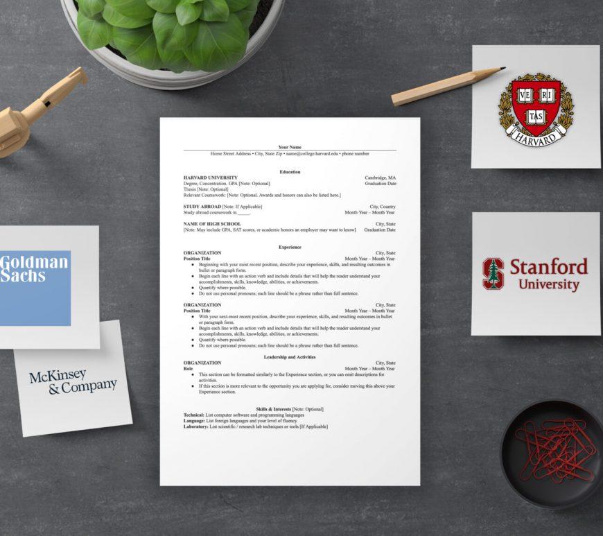 CV-format-harvard